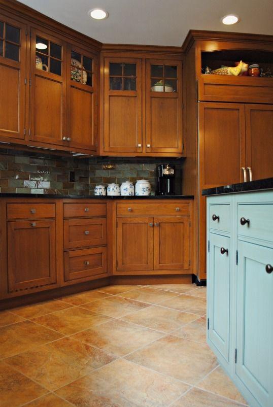 glaze amber cabinets upper cabinets back splashes squares kitchens