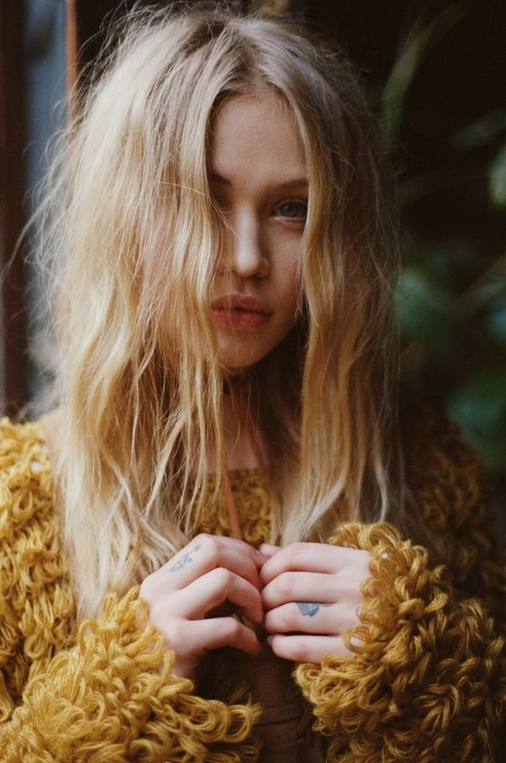 somerollingstone:  Camilla Christensen by Henrik Purienne for For Love & Lemons KNITZ Fall 2015