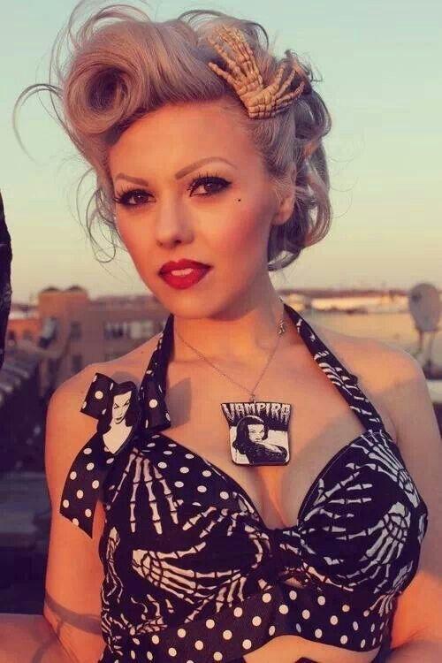 coiffure rockabilly femme bandana