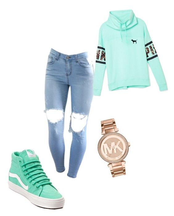 """""""Untitled #116"""" by caresskee on Polyvore featuring Vans, Victoria's Secret PINK and Michael Kors"""