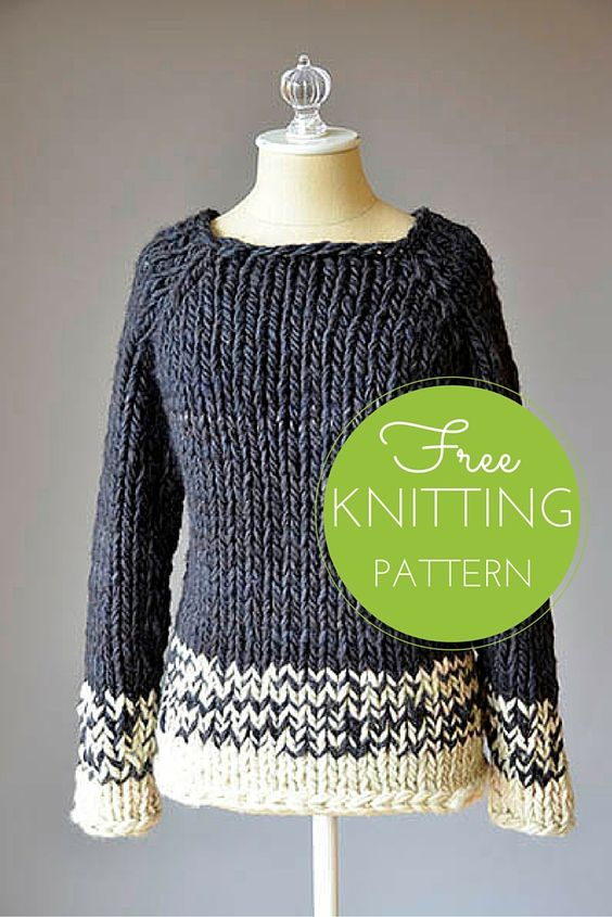Chunky Knit Sweater Pattern Free : Transitions Sweater Free Knitting Pattern Knitting, Patterns and Free knitting