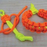 Paracord cobra weave - dead easy bracelets, woggles etc. or braid backpack straps for survival cord storage.