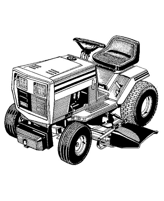 Farm equipment coloring page lawn mower coloring book for Lawn mower coloring page