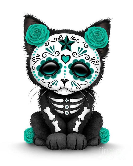 Animal sugar skull tattoo - photo#16