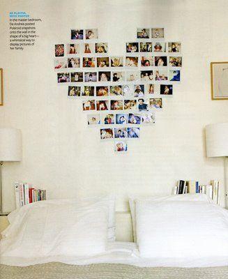 Polaroid heart: creative idea for pictures