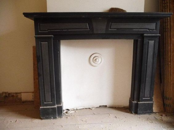 Art Deco marmeren schouw    marble mantelpiece    ART DECO SCHOUWEN EN KACHELS    FIREPLACES AND