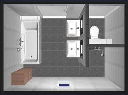 badezimmer mit separatem wc m bel pinterest layout erf llt und mode. Black Bedroom Furniture Sets. Home Design Ideas