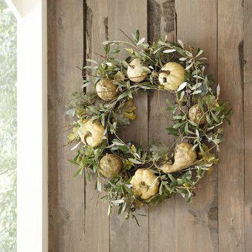 The Faux Autumnal Wreath at Birch Lane.