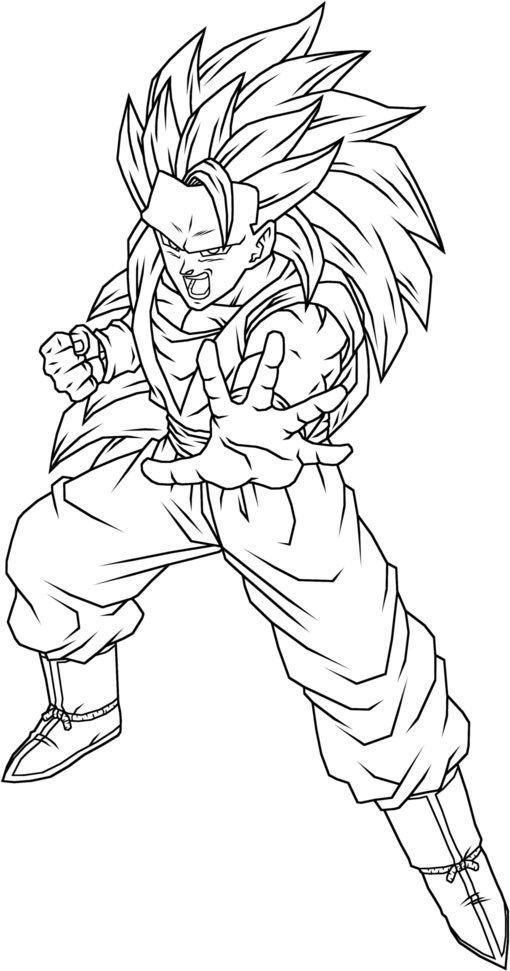 High Detailed Goku Super Saiyan Coloring Picture Dragon Ball Art Goku Dbz Drawings