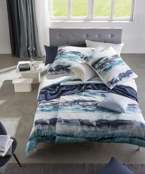 Streifen Bettwasche Mit Wendeseite Von Fleuresse Bed Art Blau Weiss