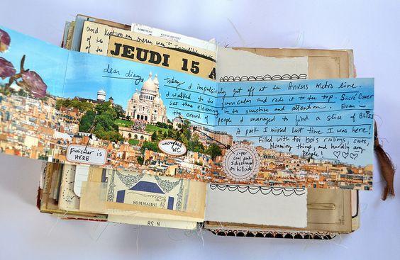 formato midi - superfree style - pagine irregolari - poche foto - molto journaling - molti memorabilia