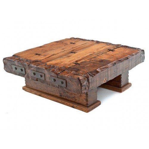 Wood Beam Coffee Table Barnwood Coffee Table Reclaimed Wood