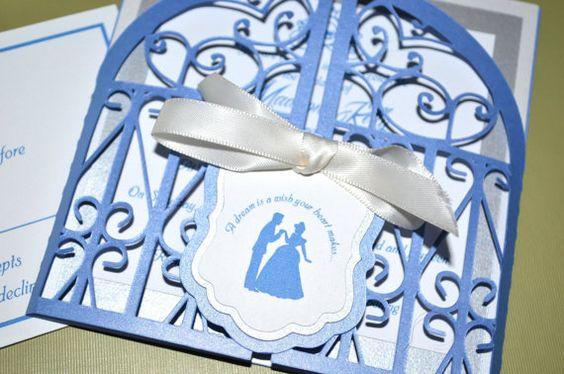 Fairy Tale Wedding Invitations, Cinderella, Regal Gate Fold by KLM Creative