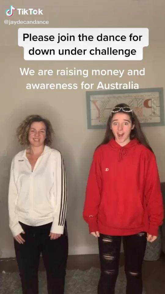 Dancefordownunder Tiktok Dance Challenge Video How To Raise Money Dance Videos Cute Stories