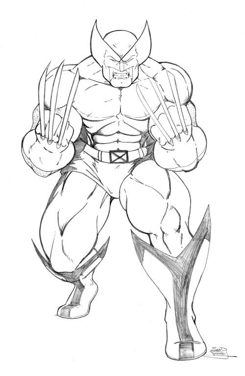 Wolverine Coloring Page Printable Avengers Coloring Pages