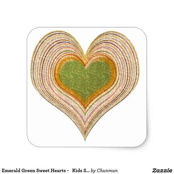 Emerald Green Sweet Hearts -   Kids Store