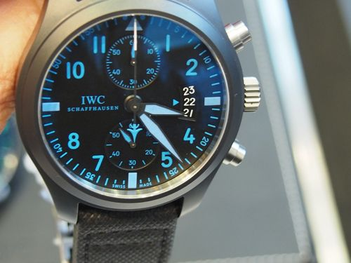 The Pilot's Chronograph Top Gun Boutique Edition offers bold date indication.