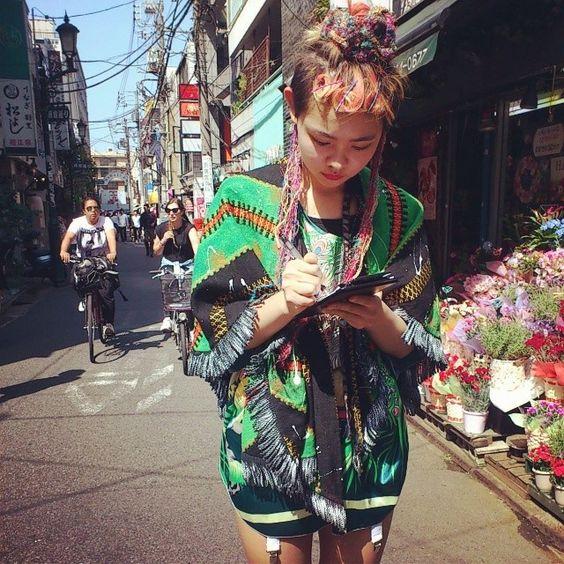 「民族っぽくて可愛かった!いい天気~! @yukiiii88  HUNTER MIKI #fruitsmag」