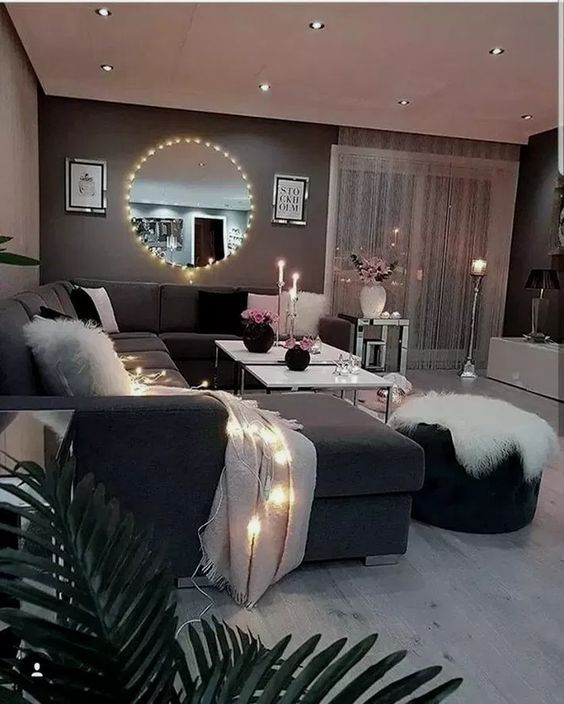Les Options De Couleurs Plus Appropriees Pour Halls Gris Living Room Decor Apartment On A Budget Cozy