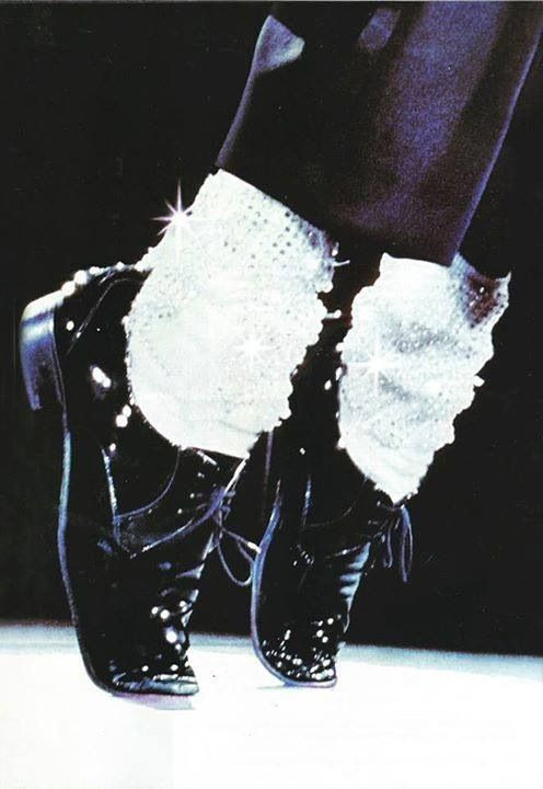 Moonwalking Shoes that were worn by the The Talented Singer Michael Jackson,my idol<3