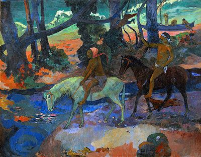 if you ever have the chance to see a collection of Gauguins, do not hesitate.  the colors in person are completely mesmerizing and do not reproduce well