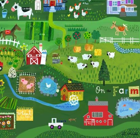 """""""On the Farm"""" artwork for kids rooms"""