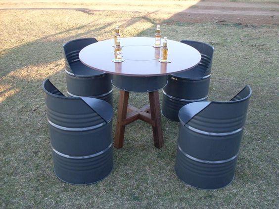 Oil drum furniture                                                                                                                                                     Mehr