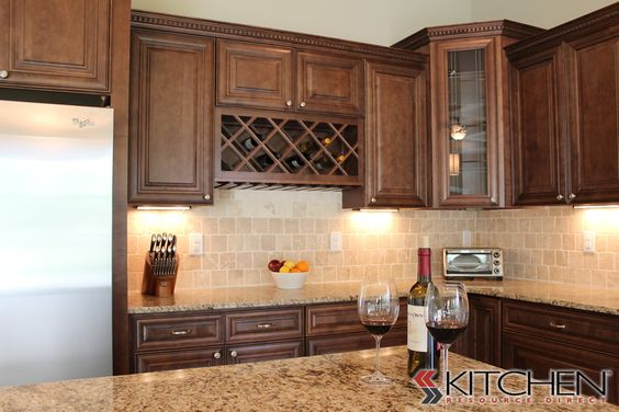 kitchen in Bradenton using our Bristol RTA cabinets in Maple Chocolate