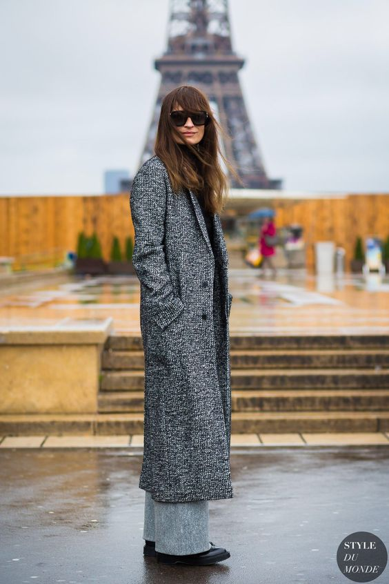 Paris Fashion Week FW 2016 Street Style: Caroline de Maigret