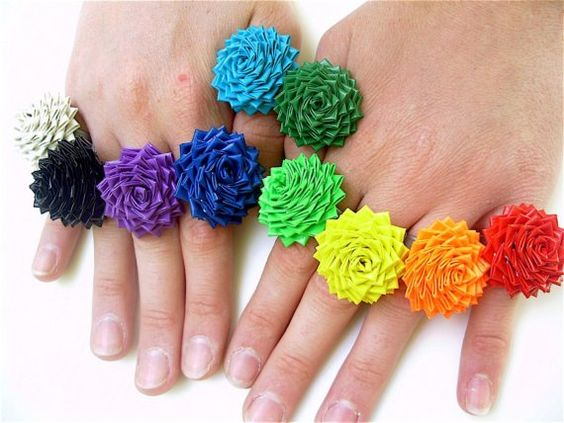 Rainbow Rose Rings!!!