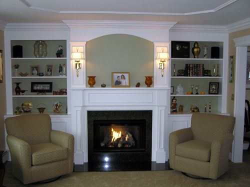 fireplace+built+in+cabinets | Custom built in cabinets, book ...