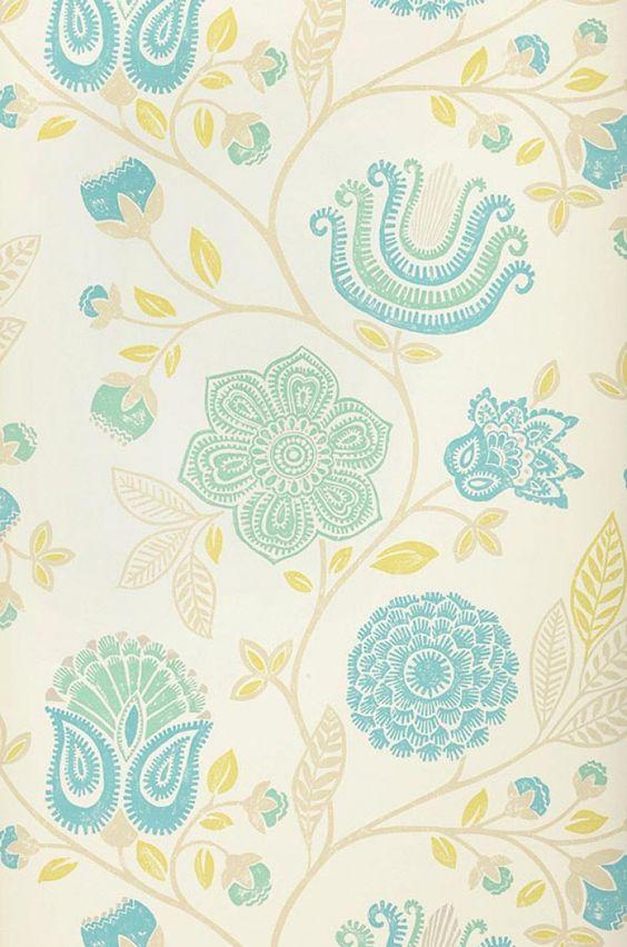 Macha for Papel pintado turquesa