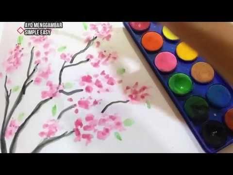 Terkeren 21 Gambar Lukisan Bunga Simple Melukis Bunga Sakura Menggunakan Cat Air Mudah How To Draw Cherry Blosso Lukisan Bunga Cat Air Lukisan Bunga Matahari