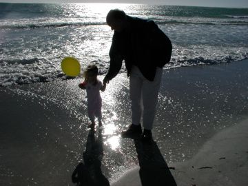 This is a picture of my daughter and her great uncle Loren.