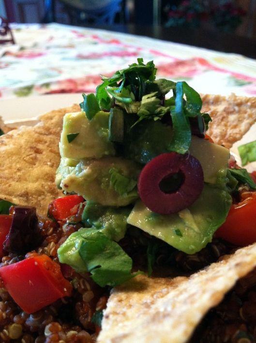 gluten free, vegan, deconstructed guacamole quinoa! yum!