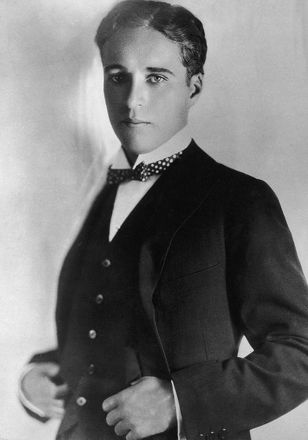 You wouldn't think that Charlie Chaplin could look so handsome and debonair out of his little tramp character - 1920's.