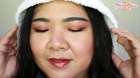 Rose Gold Christmas Makeup Look