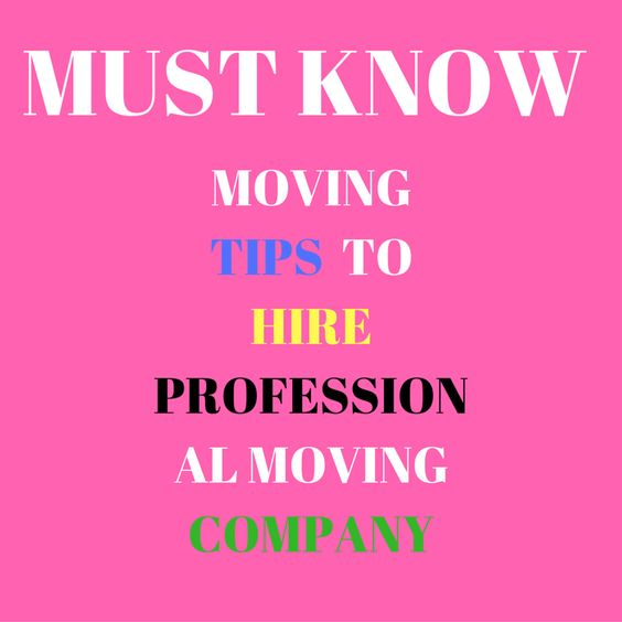 A Few Must Know Moving Tips To Hire Professional Moving Company http://bit.ly/291xQhA