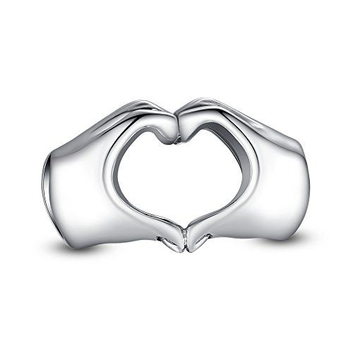 "#Glamulet Heart Hands Charm❤Use Coupon code "" PIN5 "" ,Get 5% OFF on all products on www.glamulet.com"
