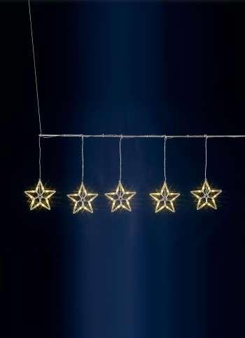 LED Sternen-Lichtervorhang für innen