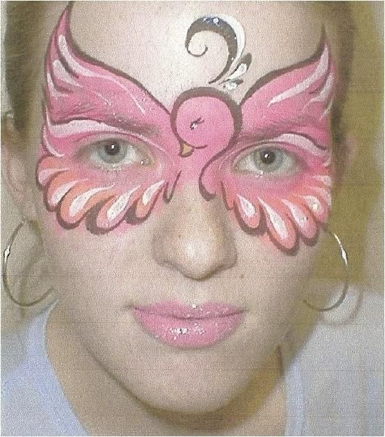 Pink bird face painting - sweet!   THE PINK PARTY ...