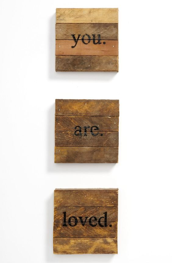 you. are. loved.' wall art