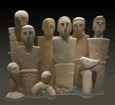 3000 BCE stone carvings / relics of the Phoenician, Roman, Arab and Medieval Christian eras on the island of Malta / Gozo Museum of Archaeology