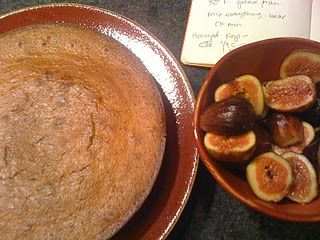 orange blossom yogurt cake with honey figs - http://www.chipsandsugar ...