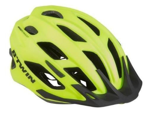 Mountain Mtb Bike Helmet Neon Yellow Men Women Bicycle Safety Btwin Cycling Bicycle Safety Mountain Bike Helmets