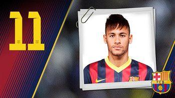 Imagen oficial de Neymar con la camiseta del FC Barcelona