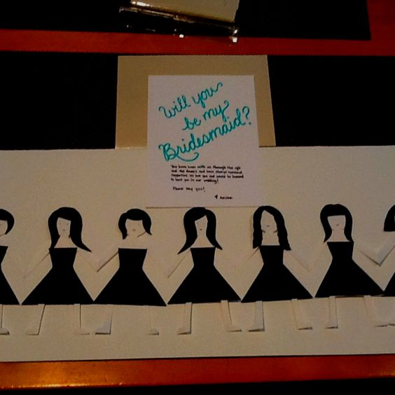 This is what I made to ask my bridesmaids to be in the wedding. The idea was from rifle and co.  Genius!