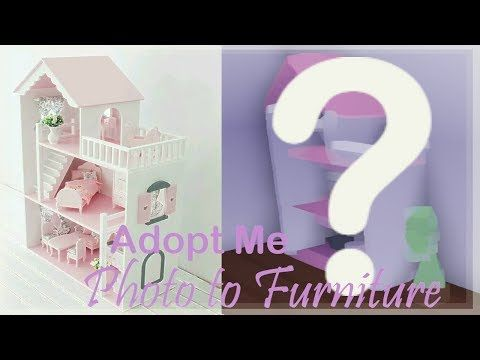 Photo To Furniture Adopt Me Dollhouse Build Hacks Youtube In 2020