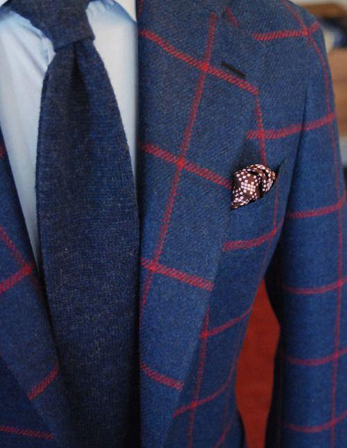 Wool coat & wool tie