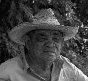 An old Nicaraguan man in a small town in Nicaragua